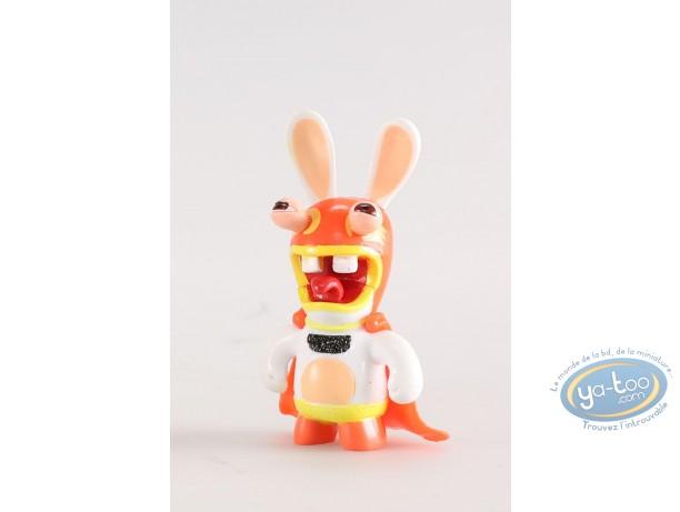 Figurine plastique, Lapins Crétins (Les) : Catcheur (cape rouge)