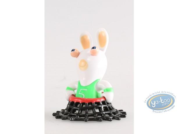 Figurine plastique, Lapins Crétins (Les) : Basketteur (pris dans le filet)