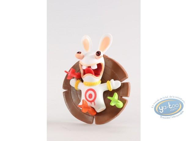 Figurine plastique, Lapins Crétins (Les) : Joueur de flèchettes (pris au jeu)