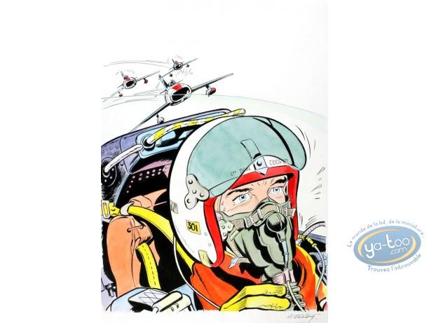 Aquarelle, Dan Cooper : L'Escadrille des Jaguars