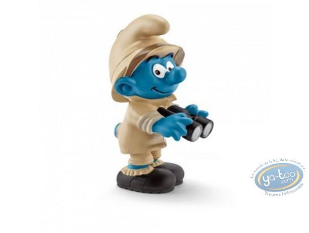 Figurine plastique, Schtroumpfs (Les) : Schtroumpf explorateur avec jumelles