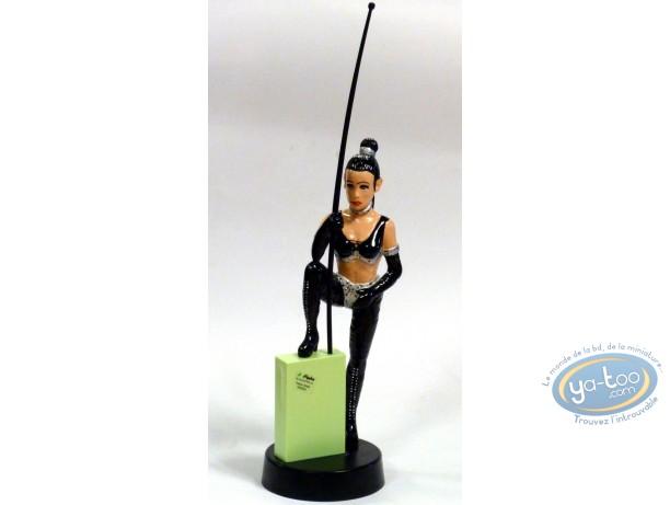 Figurine plastique, Pin-Up : Statuette PVC femme au fouet