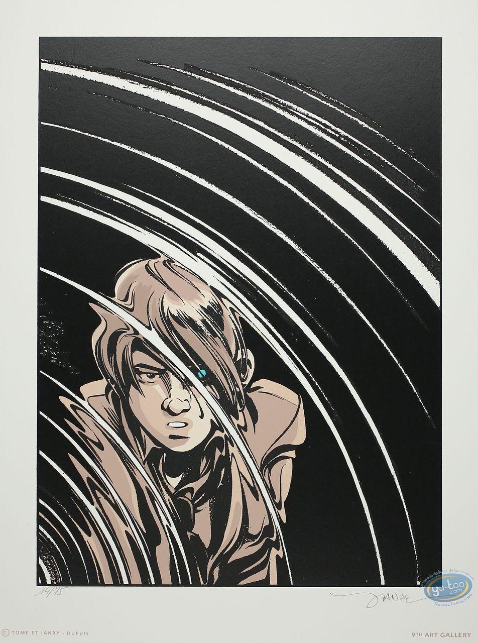 Affiche Sérigraphie, Spirou et Fantasio : Machine qui rêve
