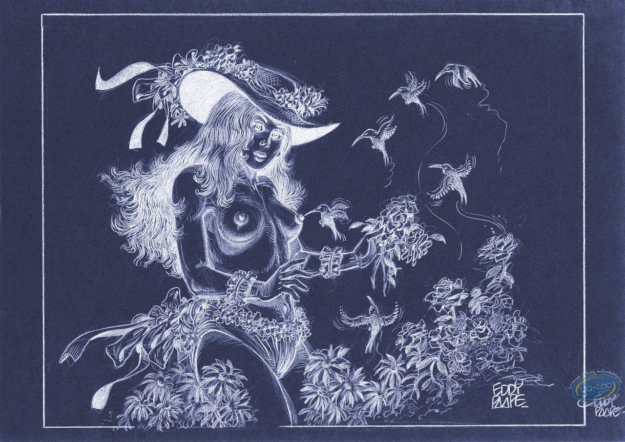 Affiche Offset, Luc Orient : Laura fleurs (négatif)