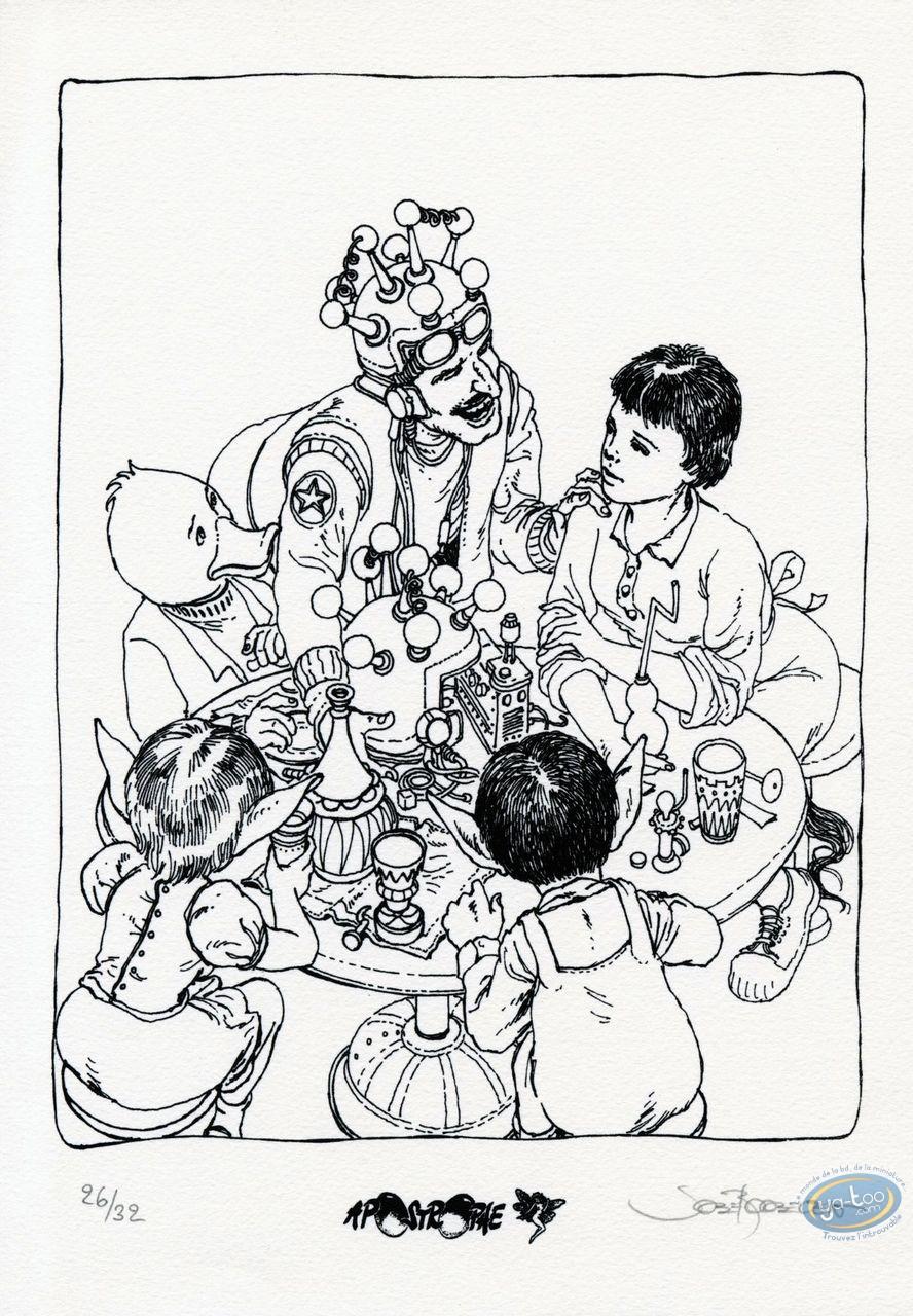 Ex-libris Sérigraphie, Table de Vénus (La) : A table (n&b)