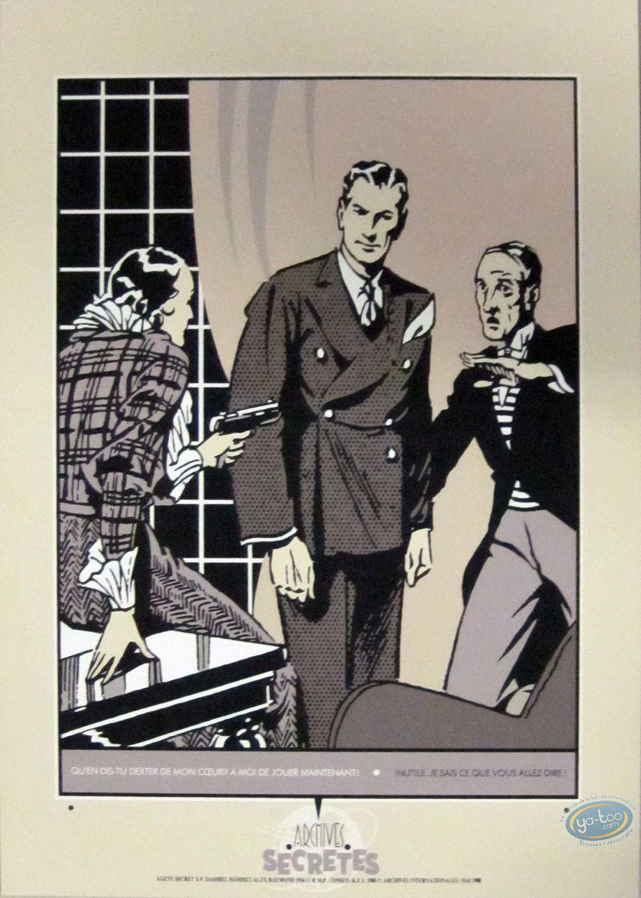 Affiche Sérigraphie, Jungle Jim : Agent Secret X-9