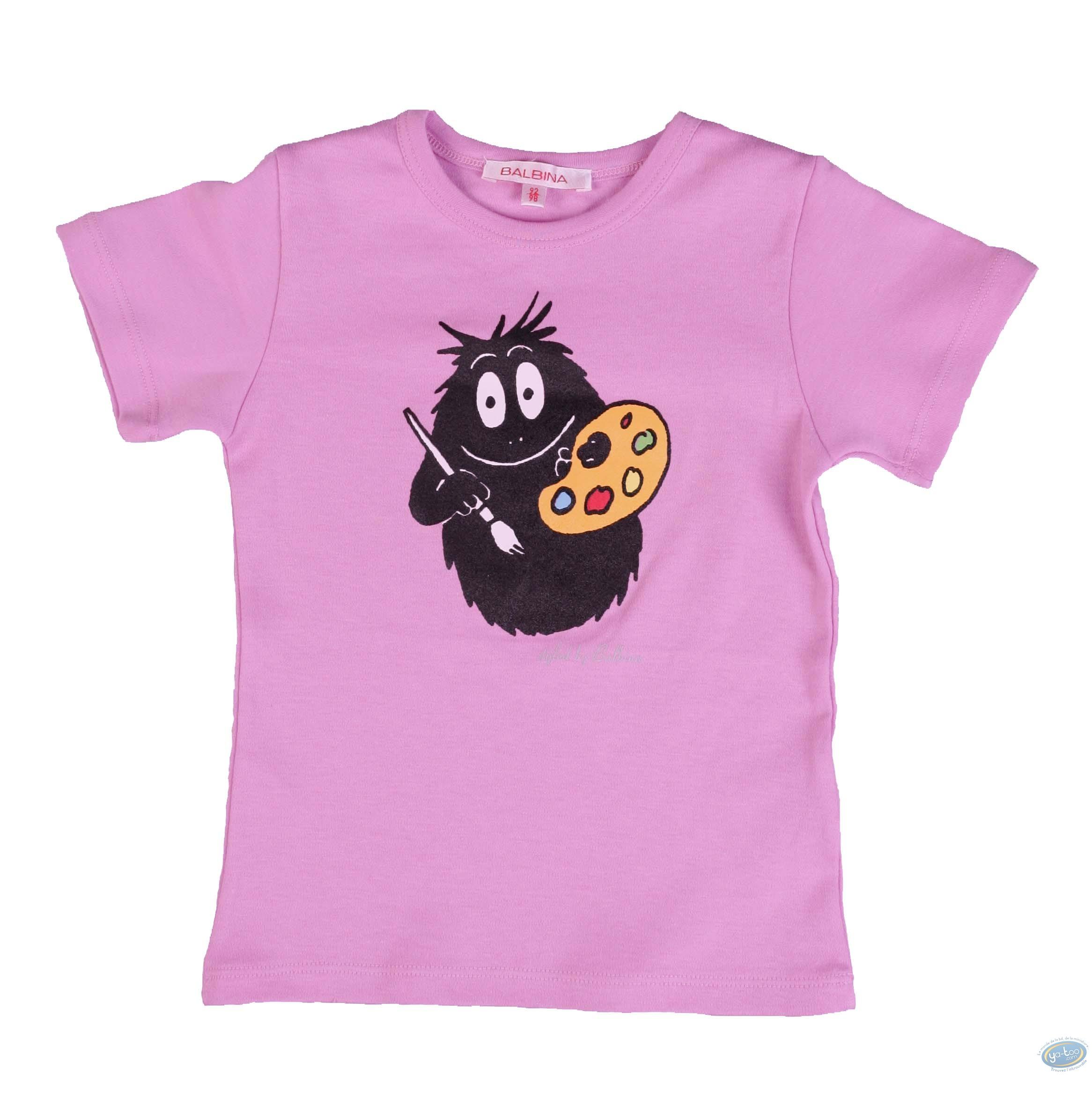 Vêtement, Barbapapa : T-shirt manches courtes lilas Barbapapa pour enfant : taille 116/122, peintre