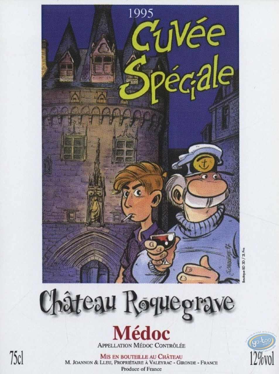 Etiquette de Vin, Léo Loden : Léo Loden - Chateau Roquegrave 1995