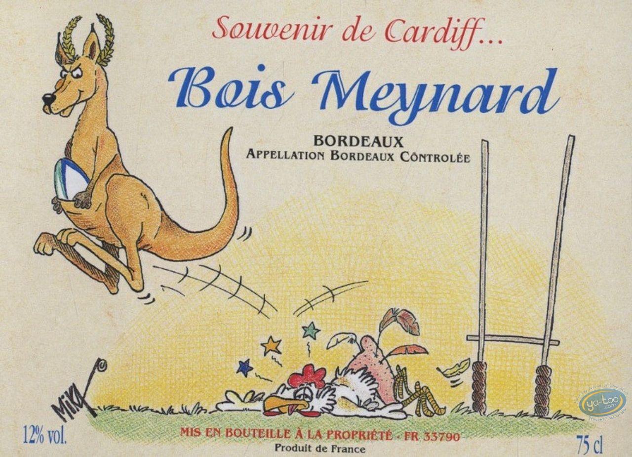 Etiquette de Vin, Souvenir de Cardiff ... - Bois Meynard