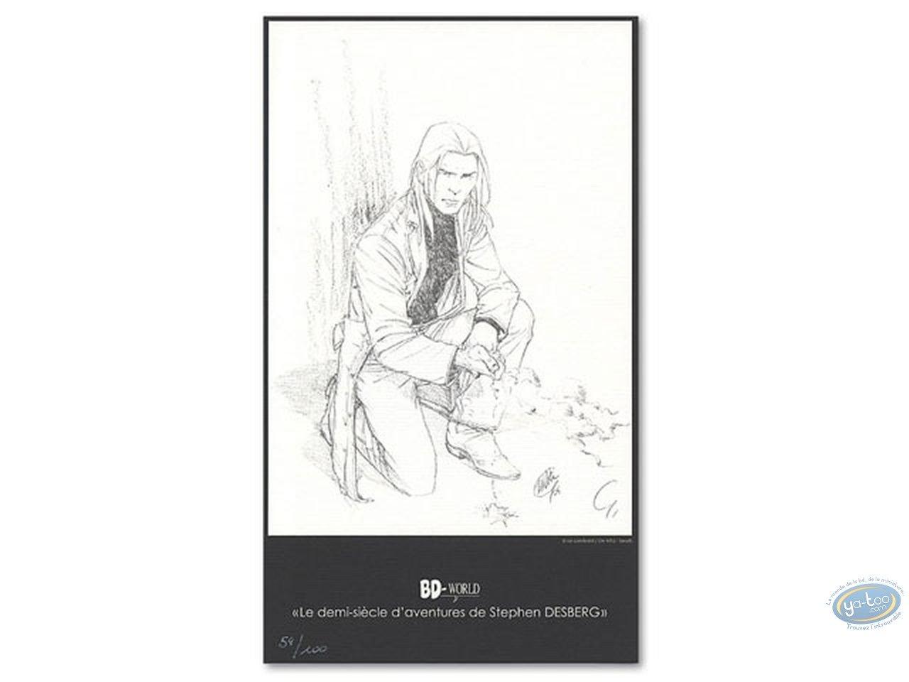 Ex-libris Offset, James Healer : James Healer accroupi