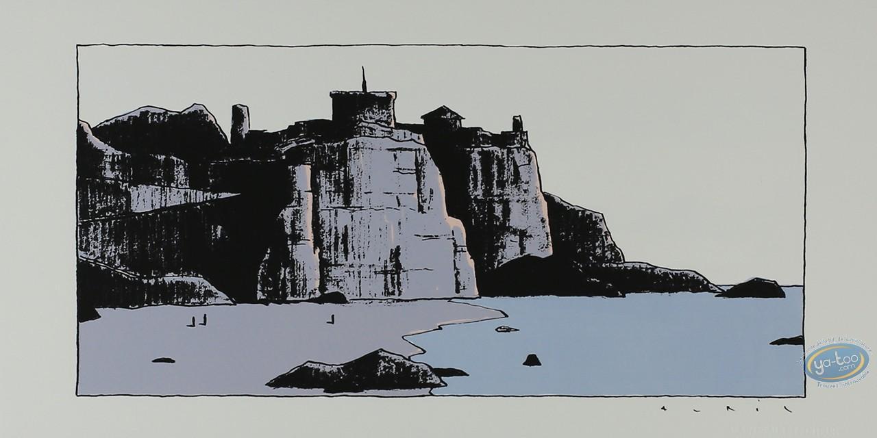 Affiche Sérigraphie, Avril : Château