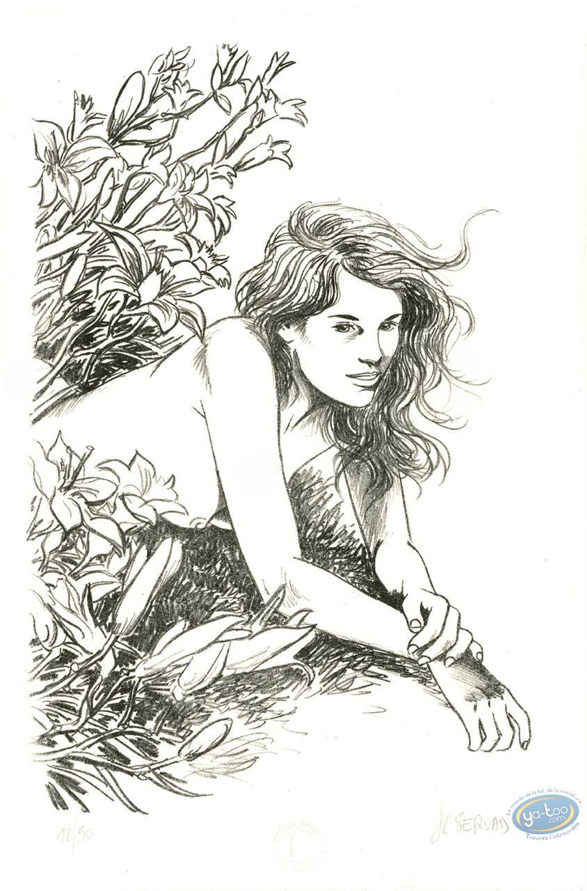 Lithographie, Mémoire des Arbres (La) : Femme charmeuse