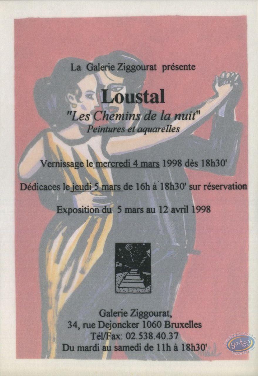 Carte postale, Les chemins de la nuit / invitation vernissage