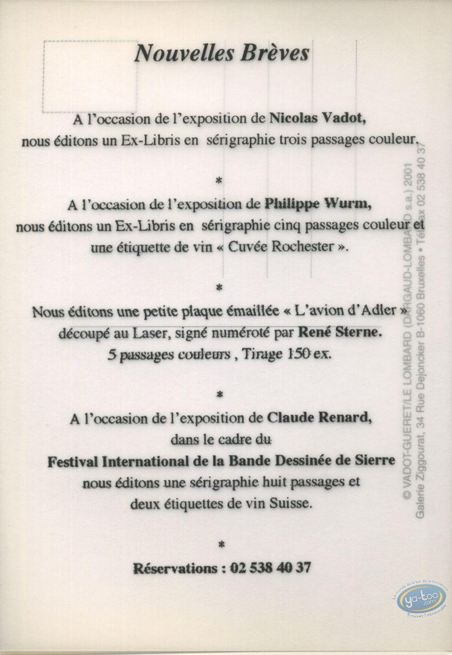 Carte postale, Norbert l'Imaginaire : Imaginaire: 1 / raison: 0 / invitation vernissage