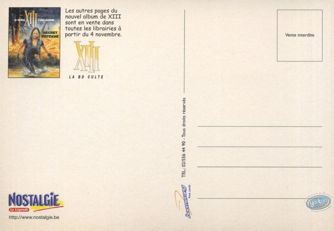 Carte postale, XIII : Secret défense - modèle 2