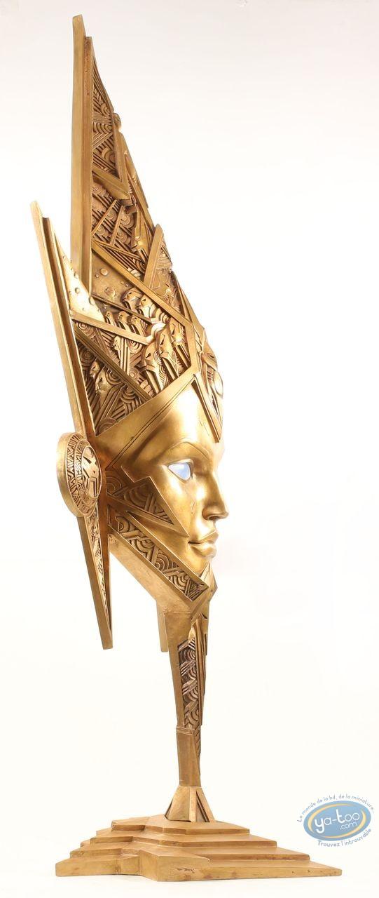 Statuette bronze, Masque Salammbô