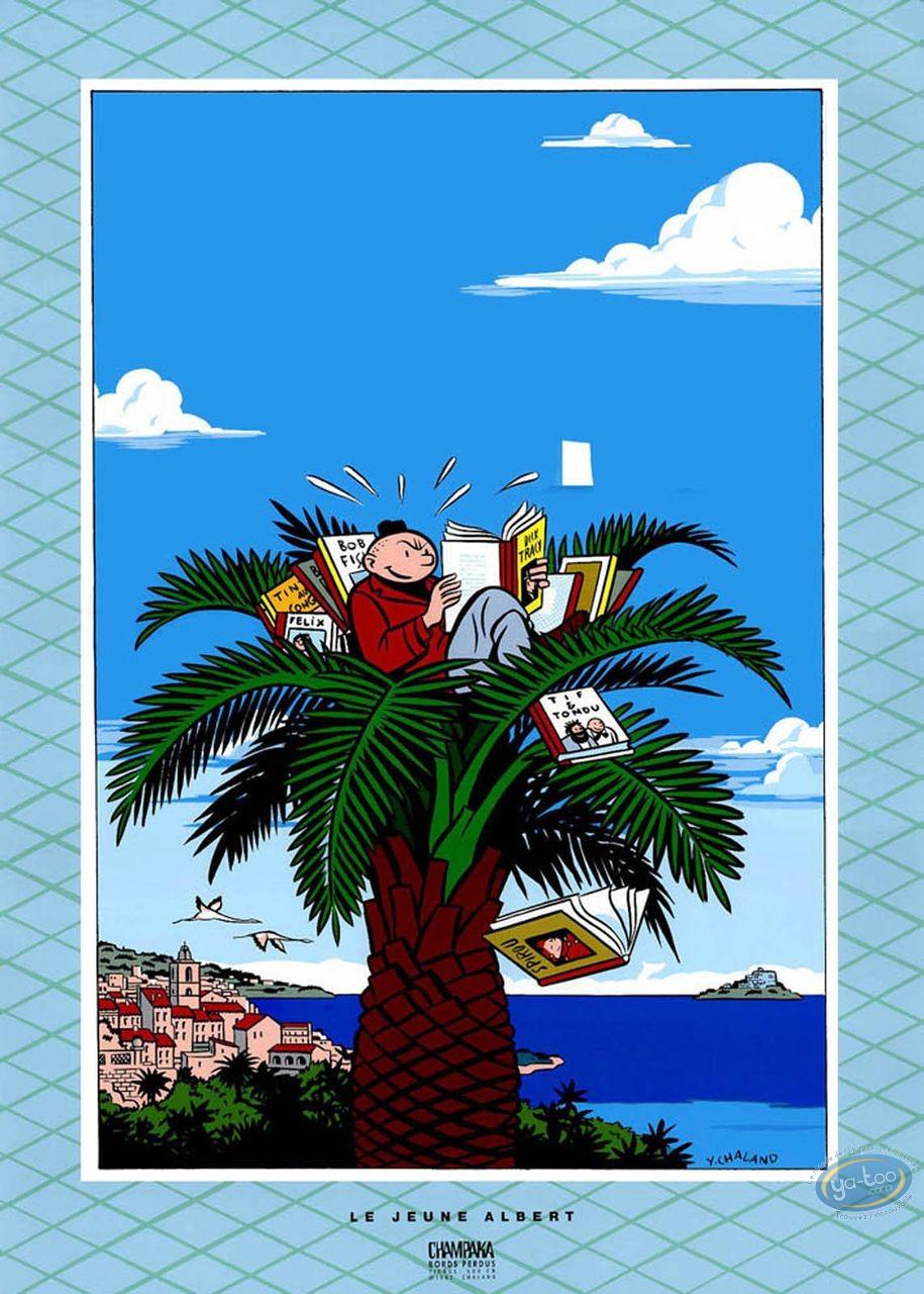 Affiche Sérigraphie, Jeune Albert (Le) : Chaland, Le Jeune Albert en vacances