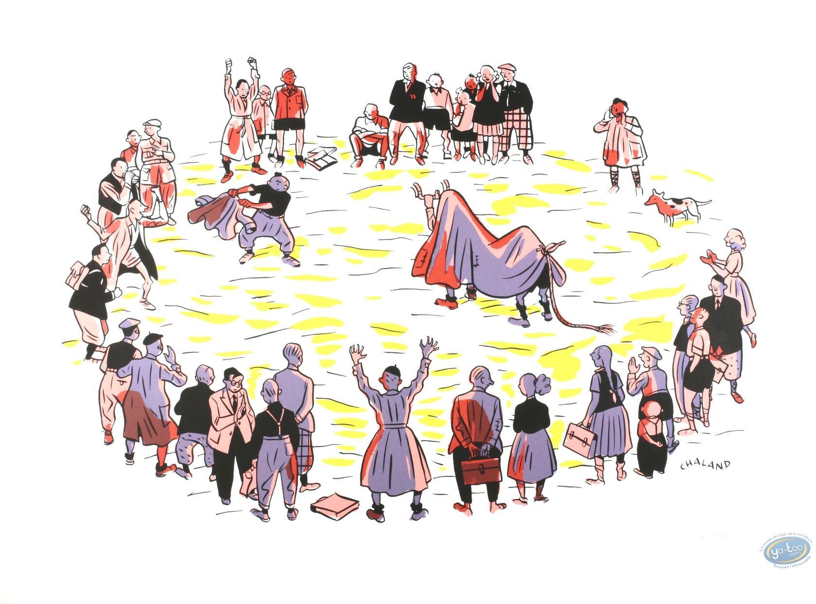 Affiche Sérigraphie, Jeune Albert (Le) : La Corrida du Jeune Albert