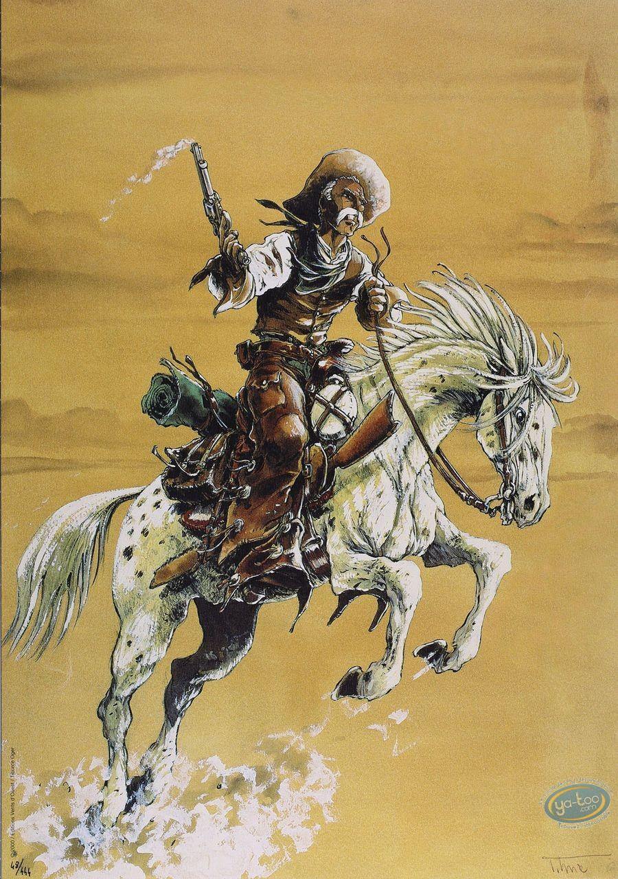 Affiche Offset, Piste des Ombres (La) : A cheval (ciel jaune)
