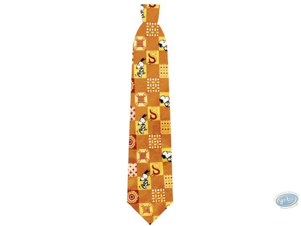 Vêtement, Snoopy : Cravate, Snoopy orange carreau