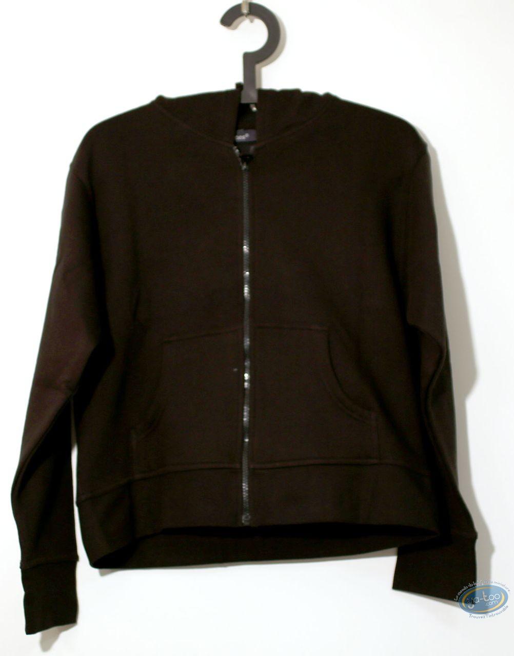 Vêtement, Corto Maltese : Sweat-shirt, Capuche noir 04-03 taille S