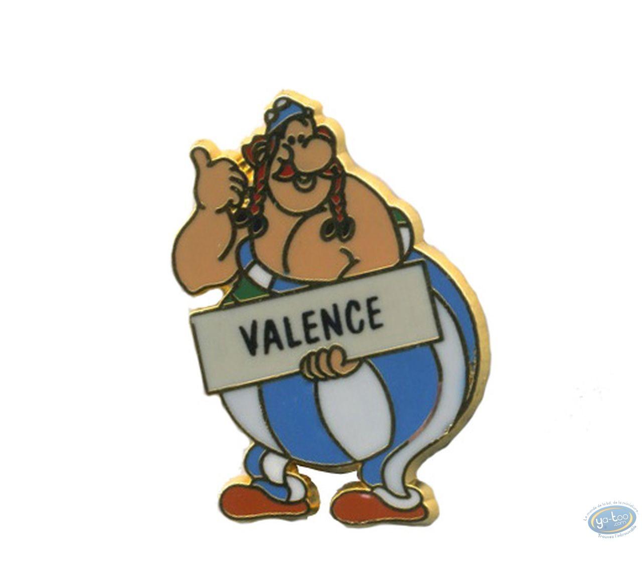Pin's, Astérix : Obélix auto stoppeur 'Valence'