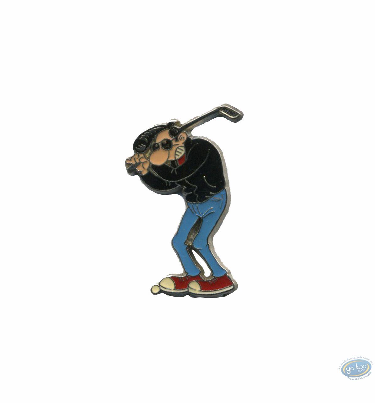 Pin's, Lucien : Lucien joue au golf