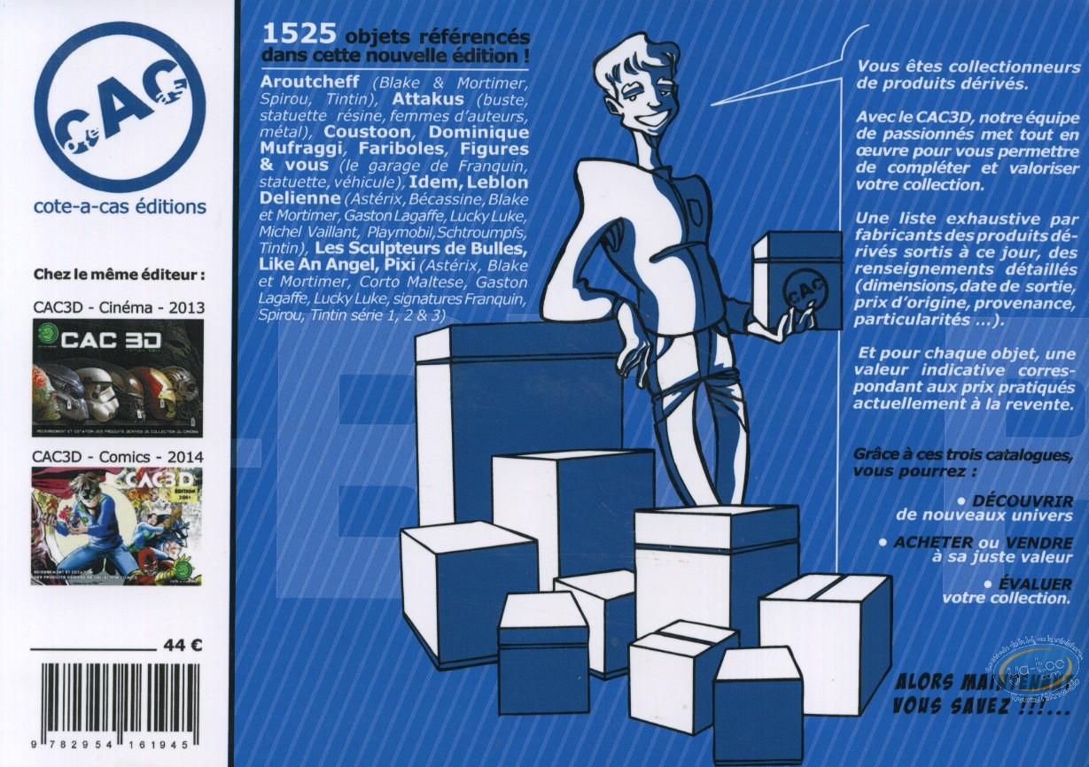 Catalogue encyclopédique et Argus, CAC 3D : Cotation produits BD, édition 2015