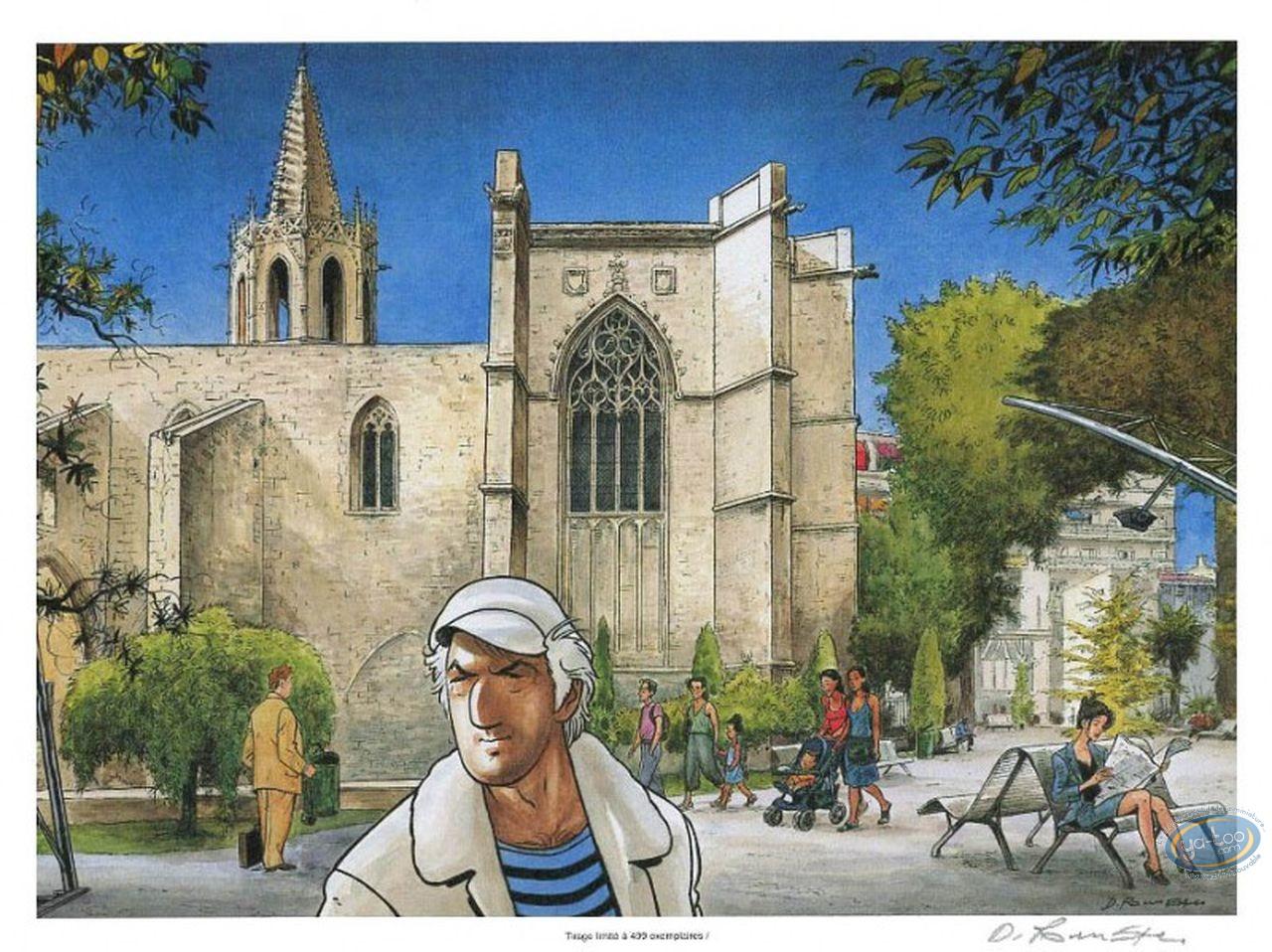 Ex-libris Offset, Condor : Devant l'église