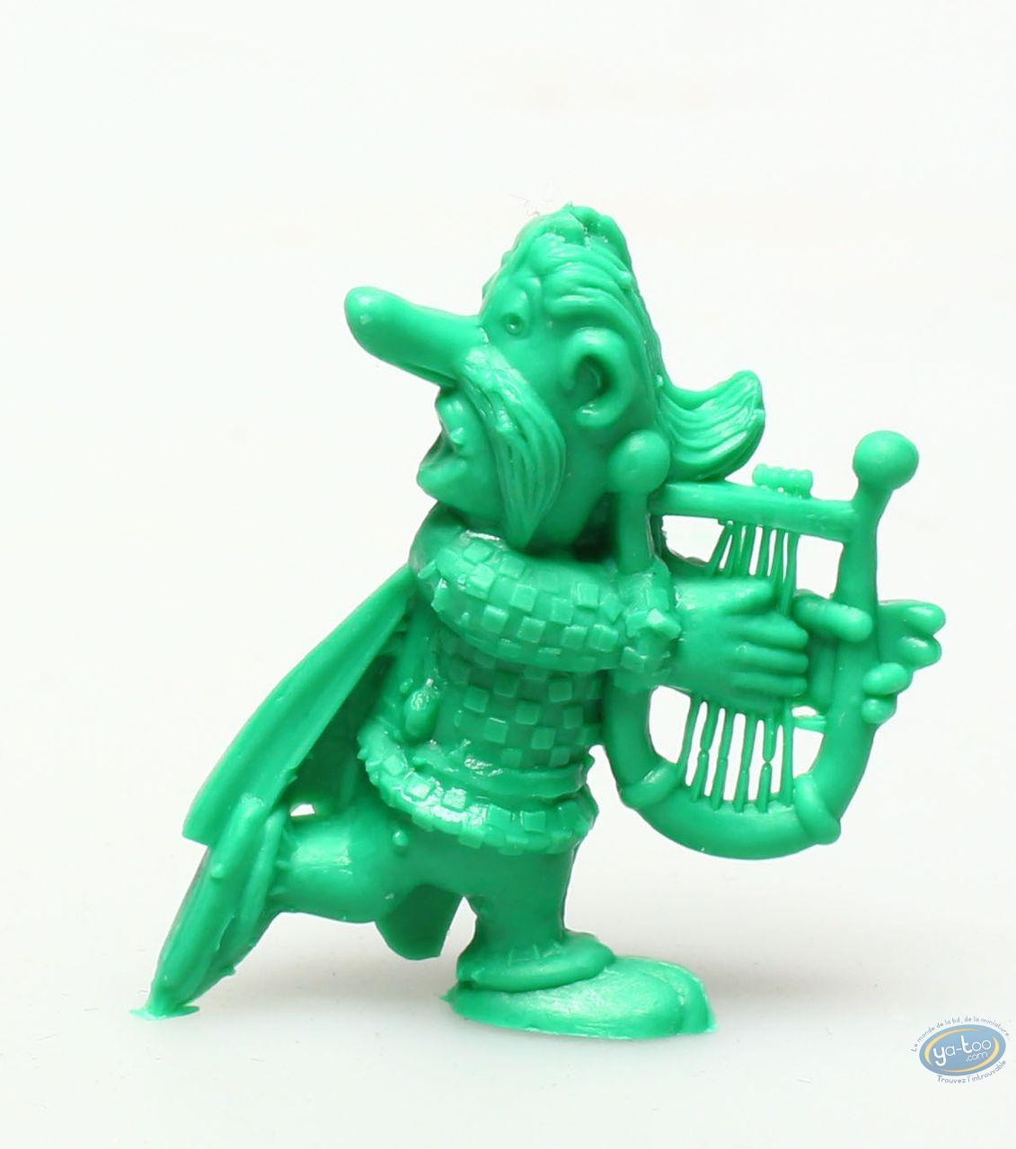Figurine plastique, Astérix : Mini Assurancetourix jouant de la lyre (vert foncé)