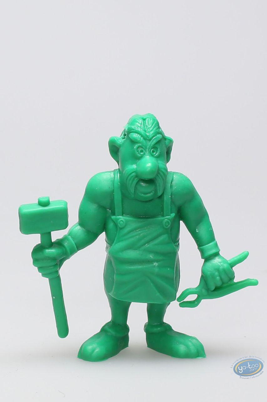 Figurine plastique, Astérix : Mini Cétautomatix avec marteau et pince (vert clair)