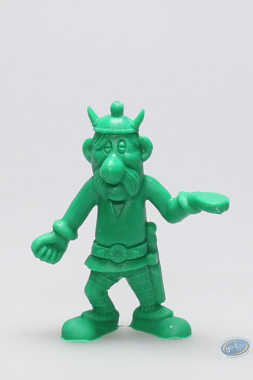 Figurine plastique, Astérix : Mini Porteur de pavois (casque avec cornes / vert clair)
