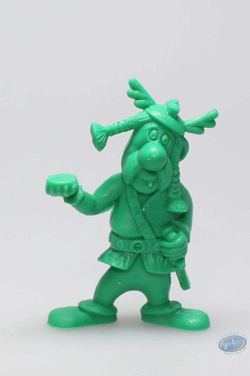 Figurine plastique, Astérix : Mini Porteur de pavois (casque avec ailes / vert clair)