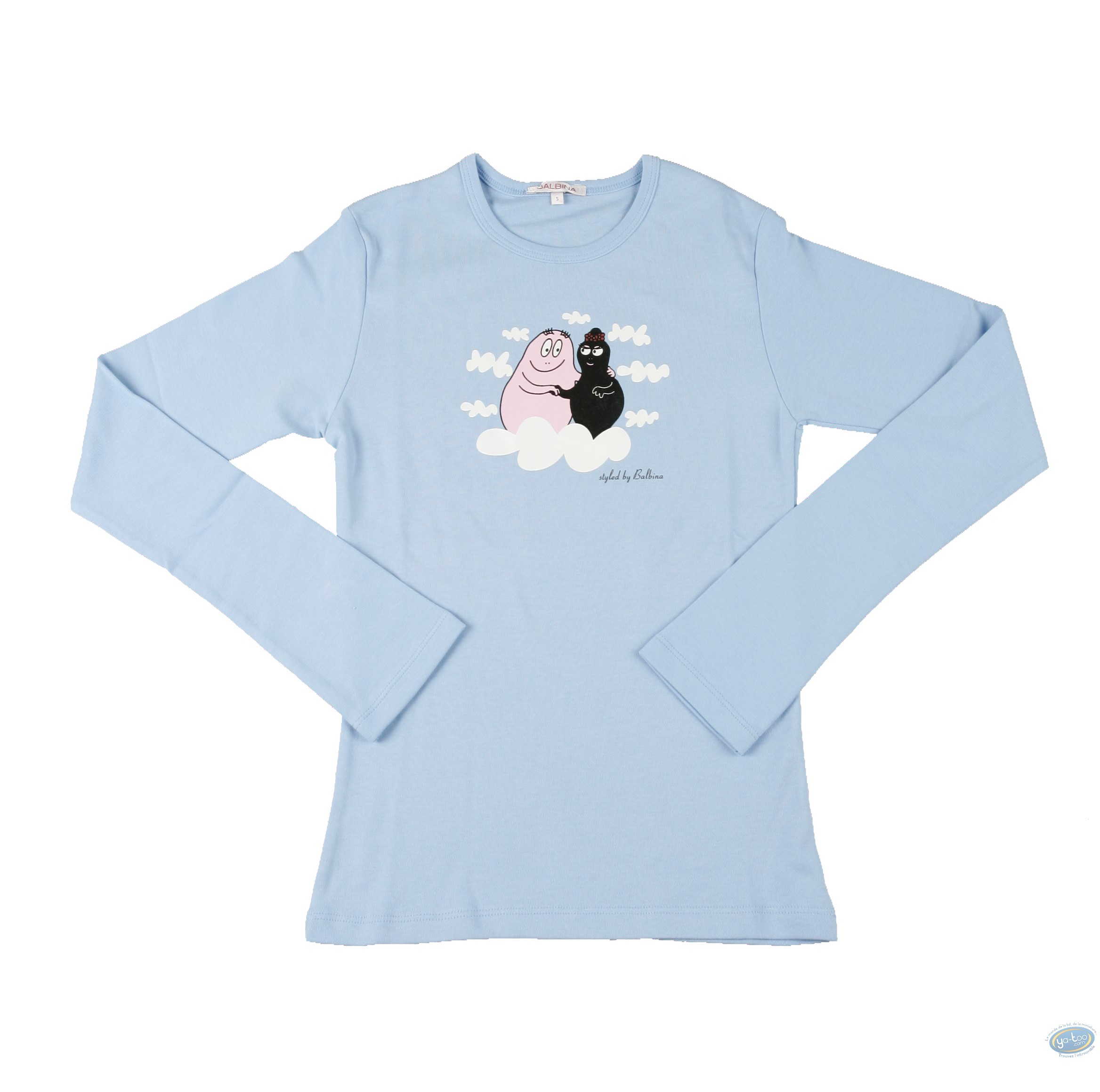 Vêtement, Barbapapa : T-shirt manches longues bleu Barbapapa: taille L, papa et maman