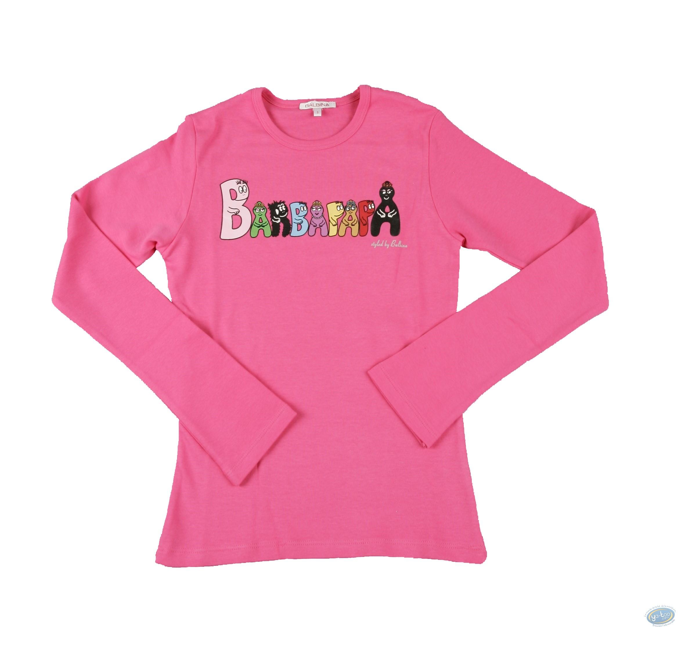 Vêtement, Barbapapa : T-shirt manches longues rose Barbapapa: taille M, logo