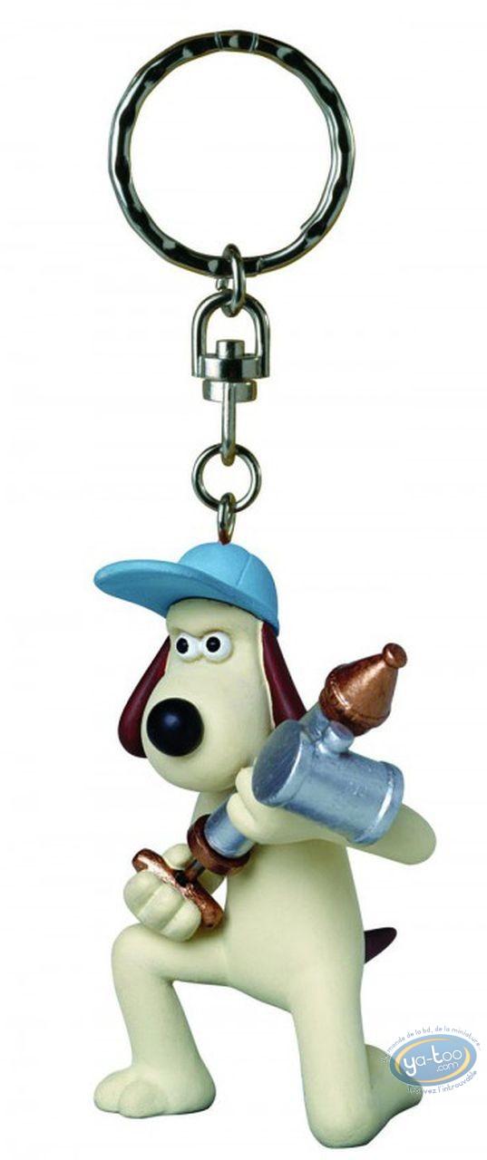 Porte-clé PVC, Wallace et Gromit : Gromit antipesto