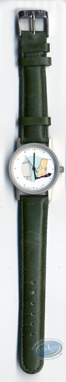 Horlogerie, Dilbert : Montre, Dilbert bracelet cuir