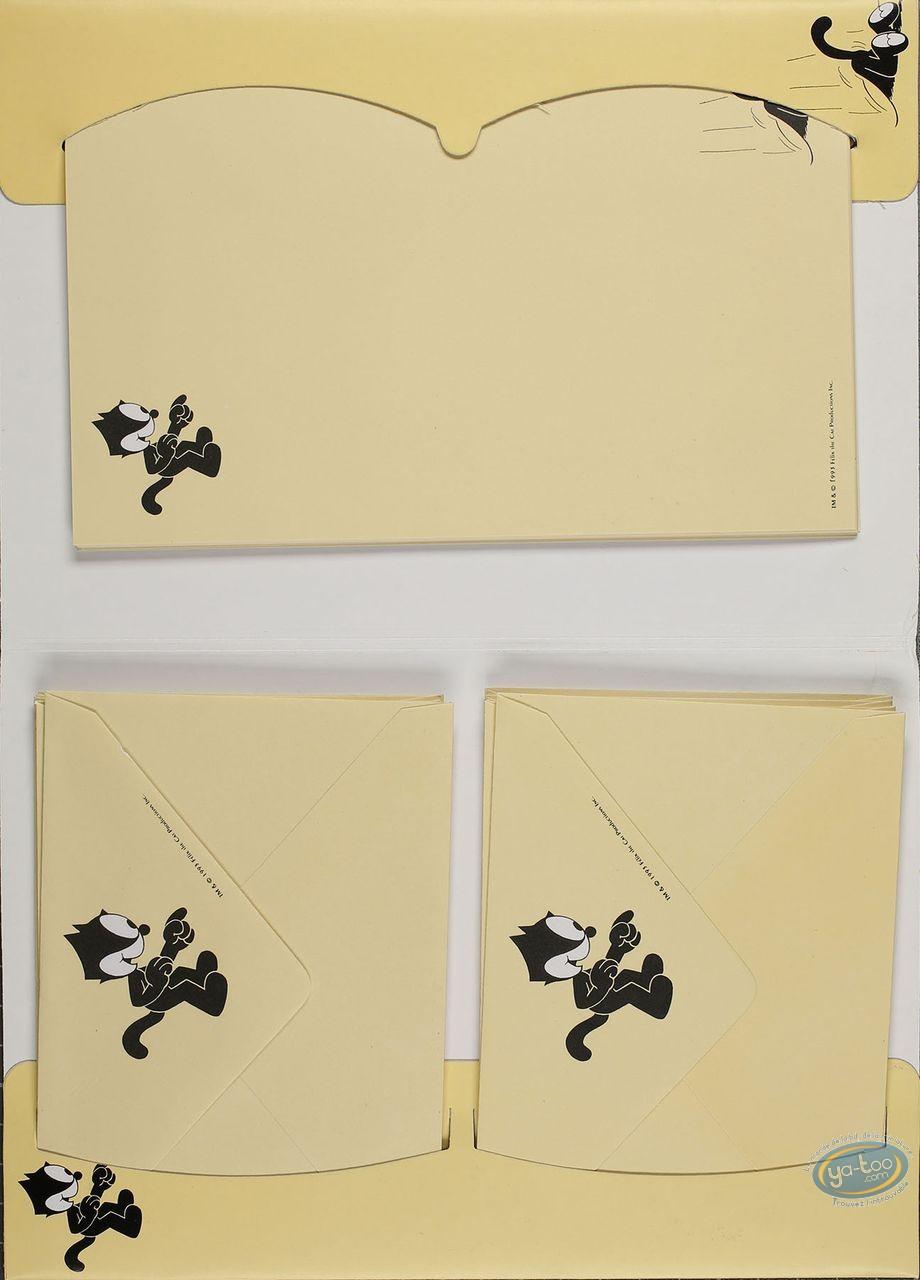 Fourniture bureau, Félix le Chat : Papier à lettres + enveloppes Felix le Chat : Jaune
