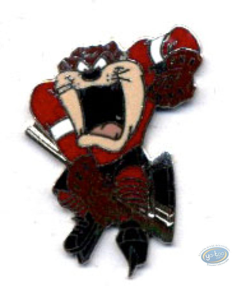 Pin's, Looney Tunes (Les) : Taz hockey sur glace