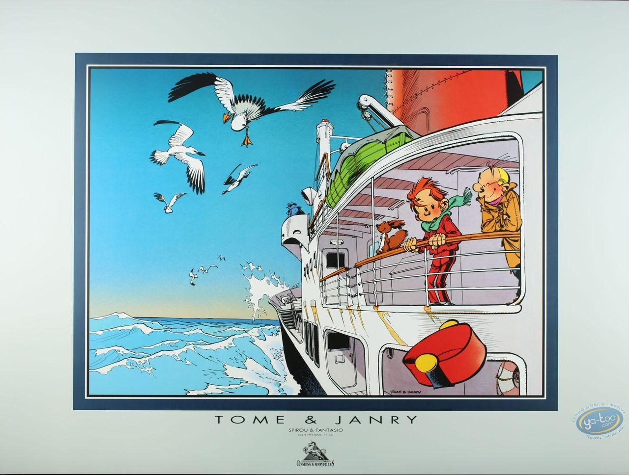 Affiche Offset, Spirou et Fantasio : Bateau