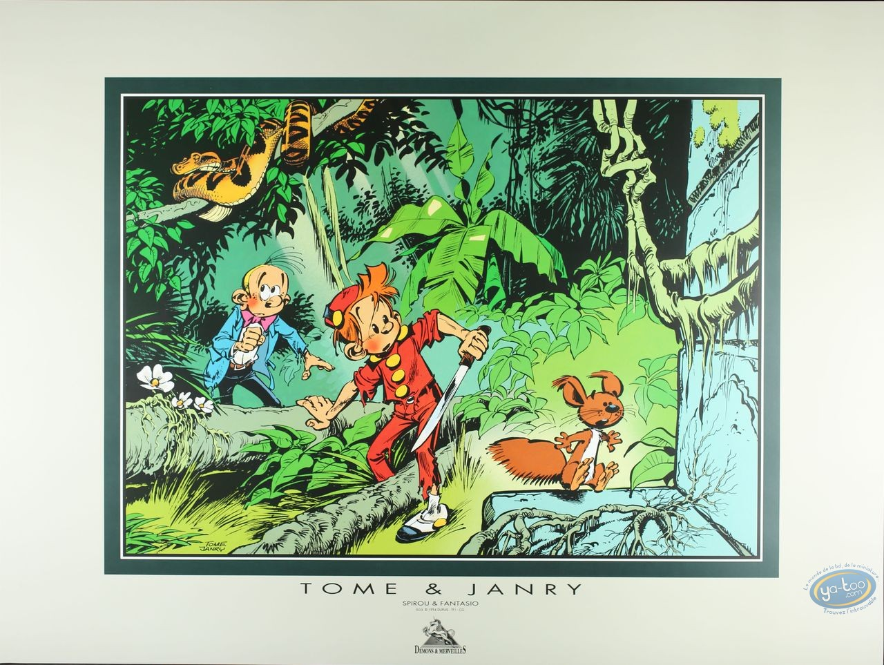 Affiche Offset, Spirou et Fantasio : Jungle