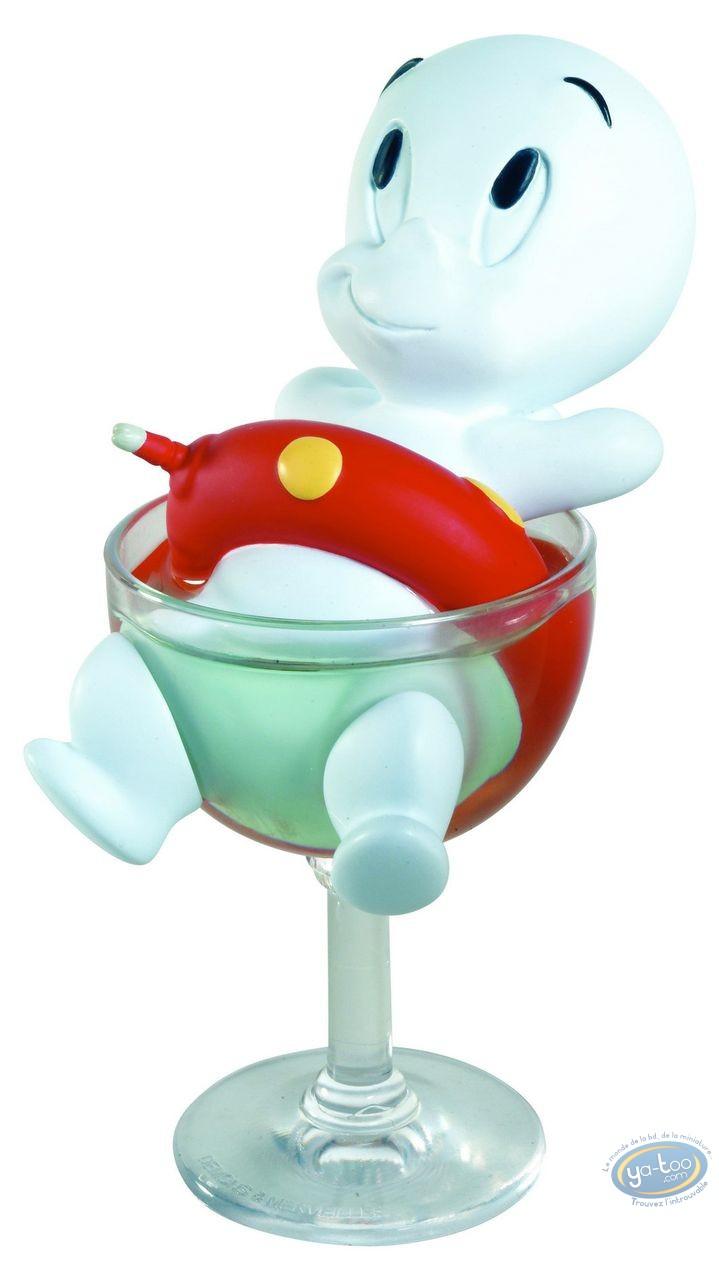 Statuette résine, Casper : Casper dans le verre