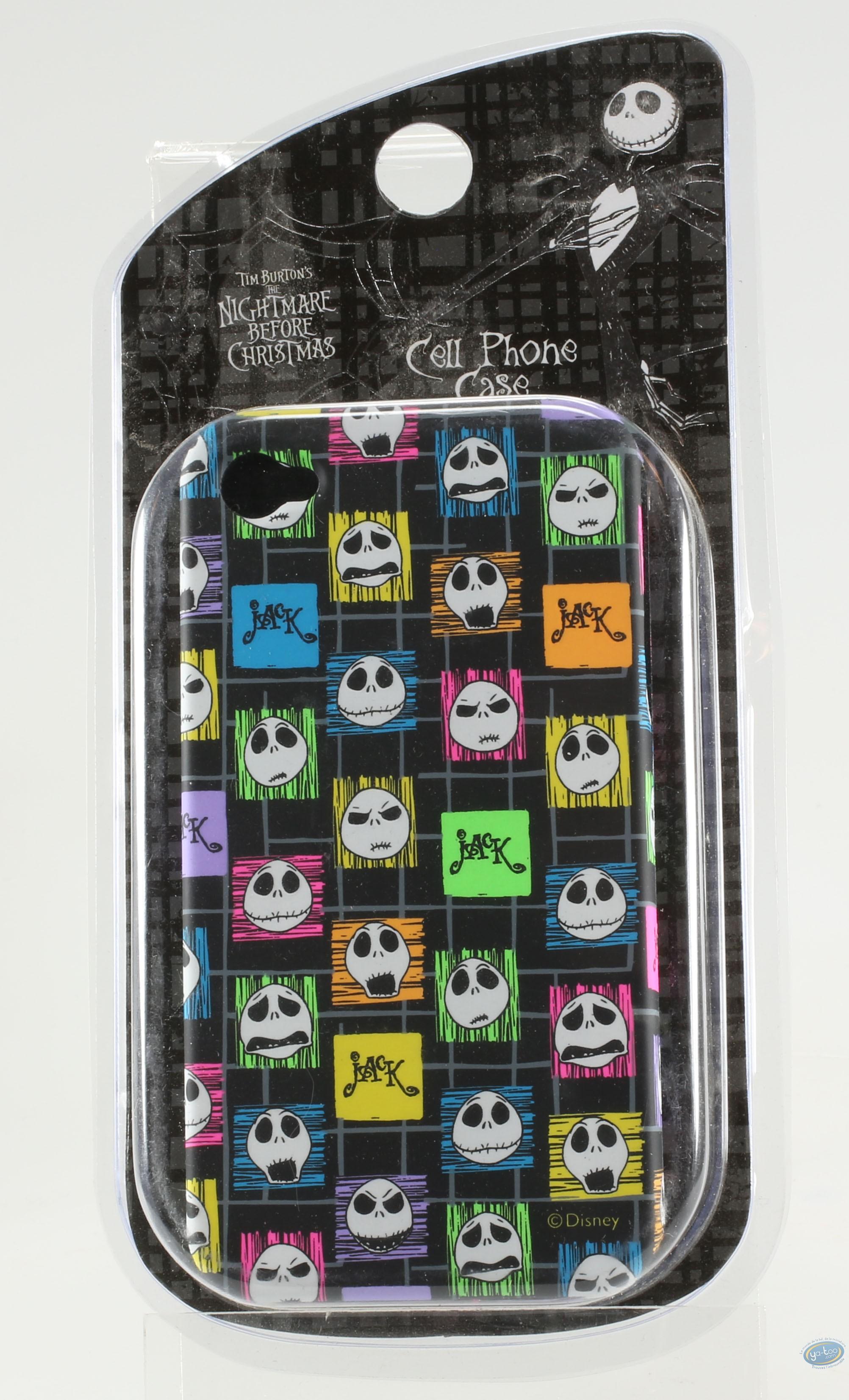 Accessoire GSM, Etrange Noël de Mr. Jack (L') : Coque Iphone 4G, Tête de Mr Jack couleur