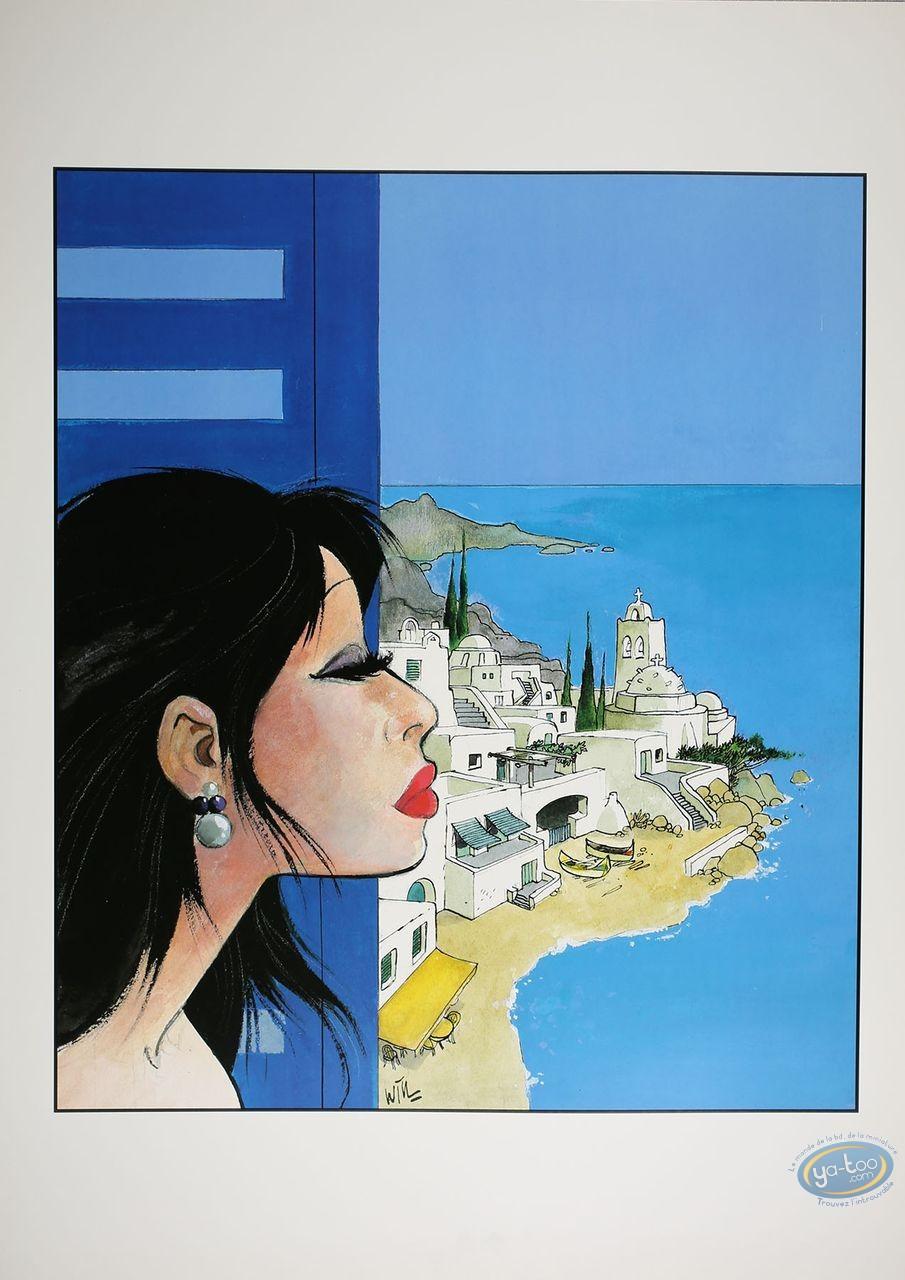 Affiche Offset, Pin-Up : Femme à la fenêtre