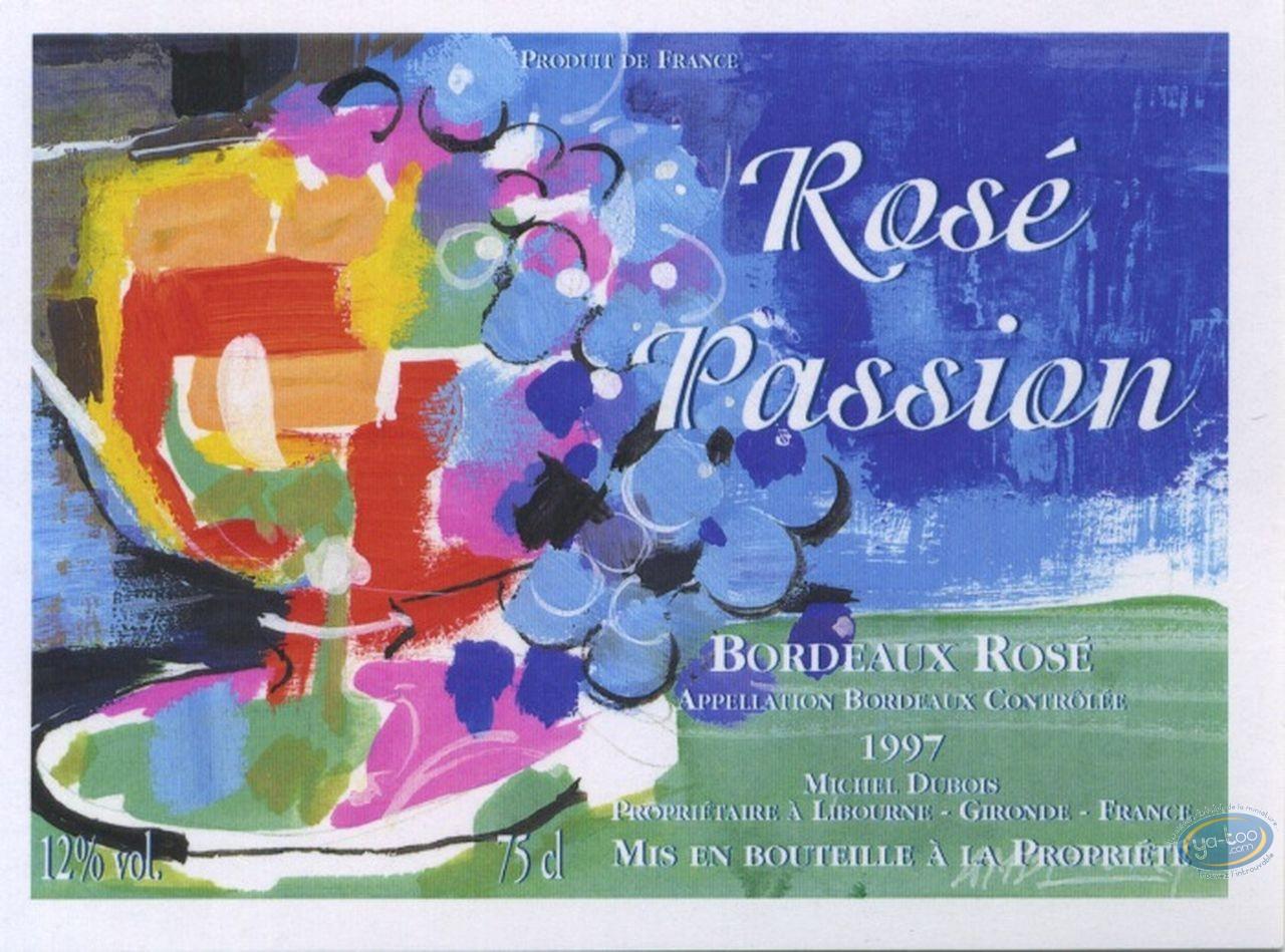 Etiquette de Vin, Coupe de fruit - Rosé Passion 1997