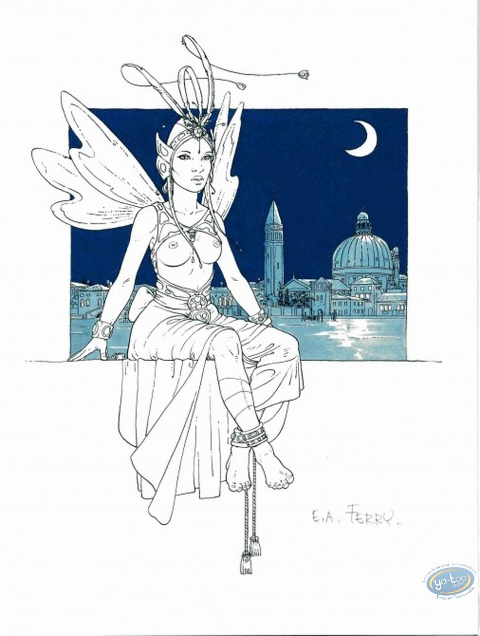 Ex-libris Offset, Ian Kaledine : Fée