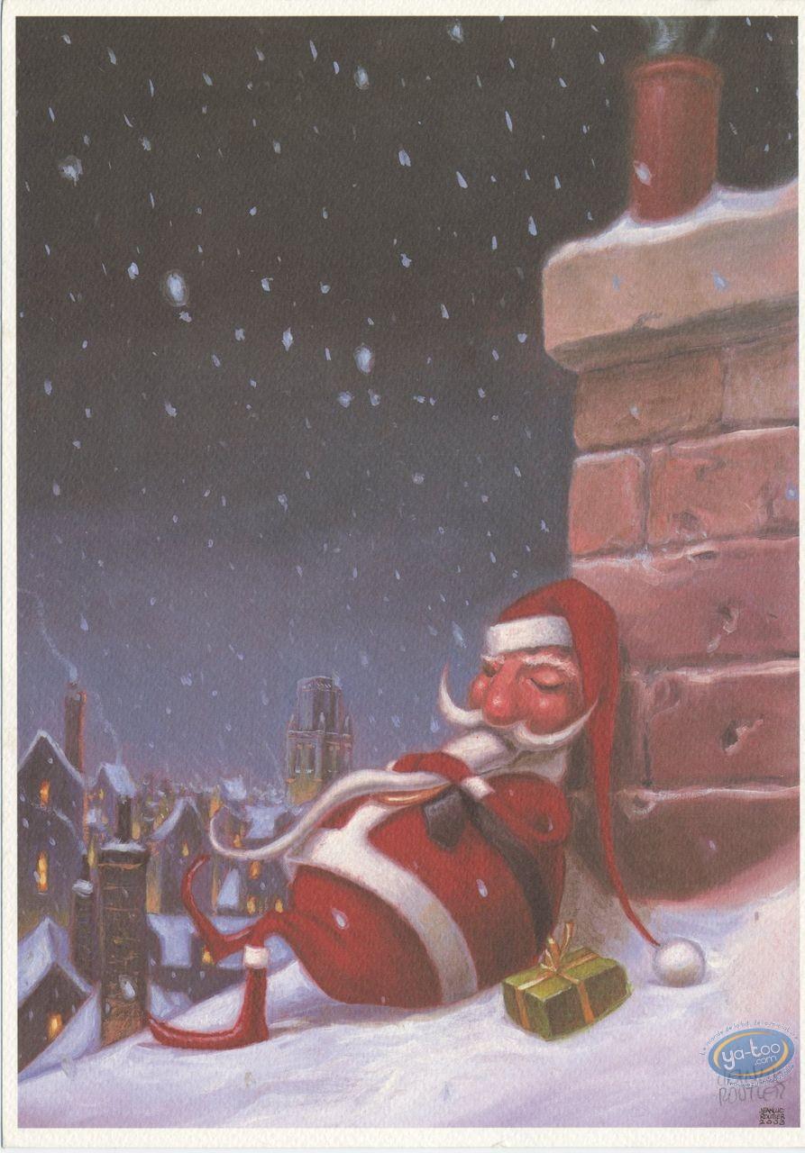 Ex-libris Offset, Père Noël se repose