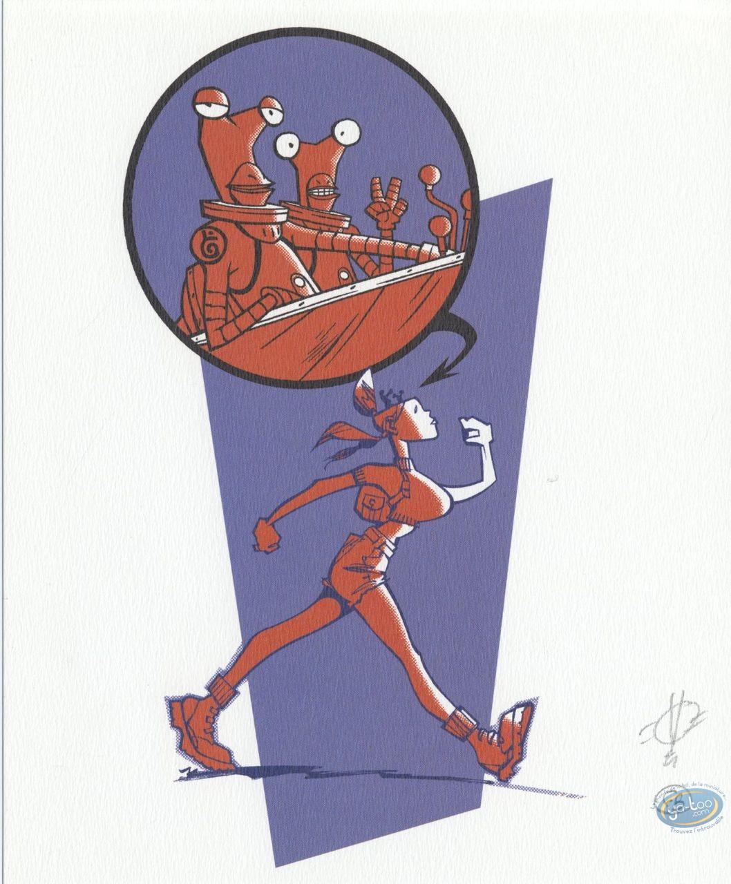 Ex-libris Offset, Mauvais Aliens : Femme robot