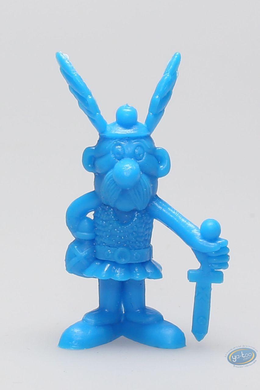 Figurine plastique, Astérix : Mini Astérix glaive en bas à la main (bleu)
