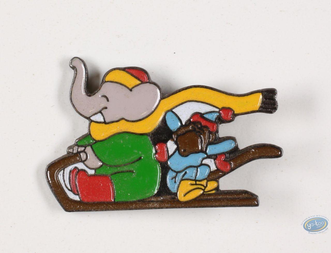 Pin's, Babar : Babar aux sports d'hiver, série de 14 pin's
